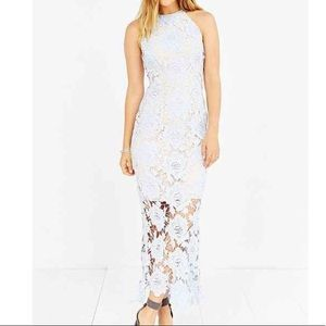Keepsake The Label True Love Maxi Blue Lace Dress